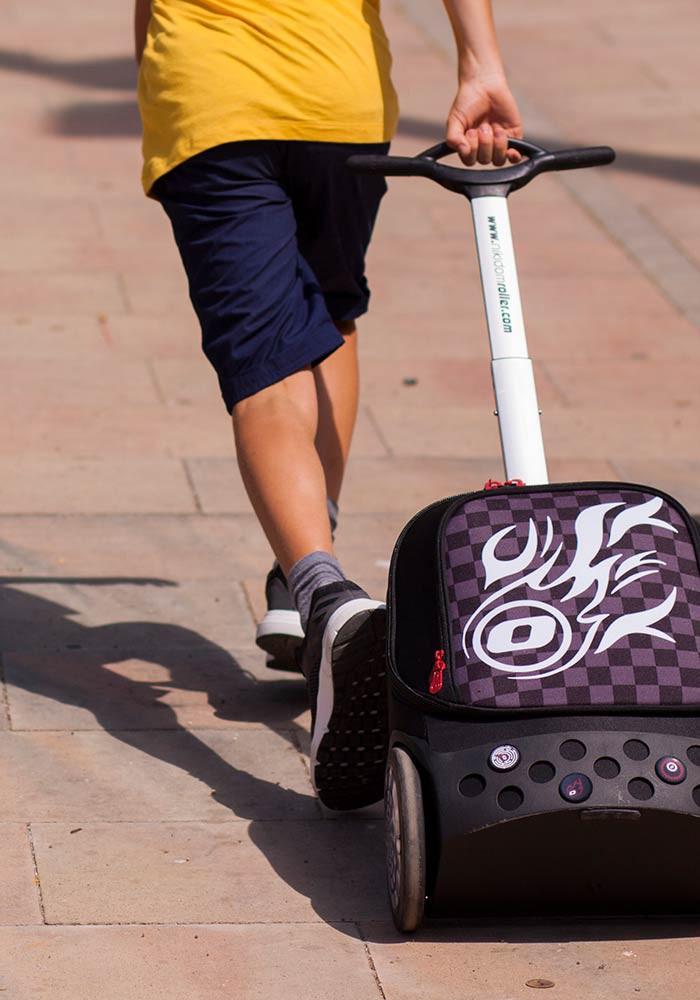 Рюкзак на колесиках Roller White Fire Nikidom Белый Огонь арт. 9019 (19 литров), - фото 2